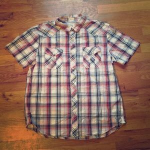 NWOT American Eagle Vintage Fit plaid button down